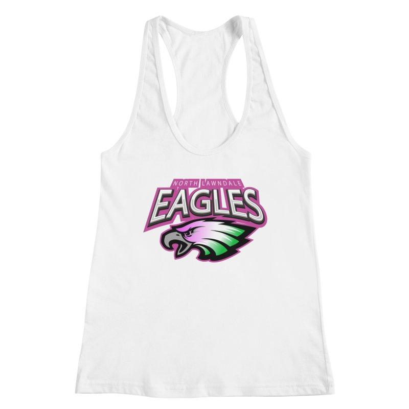 North Lawndale Eagles Breast Cancer Awareness Women's Racerback Tank by J. Brantley Design Shop