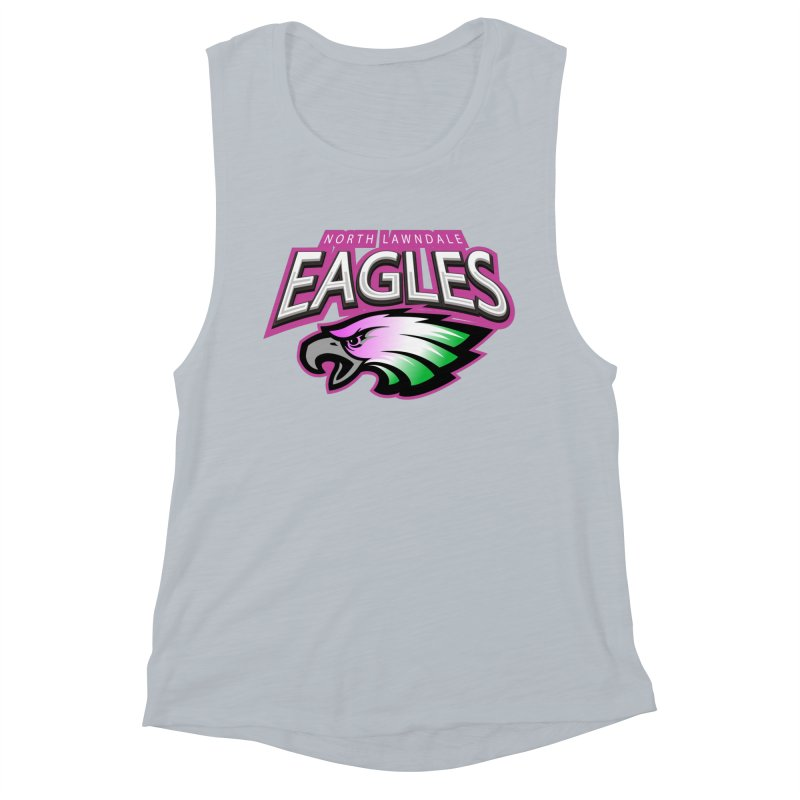 North Lawndale Eagles Breast Cancer Awareness Women's Muscle Tank by J. Brantley Design Shop