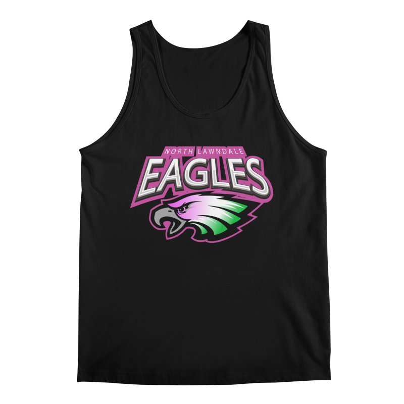 North Lawndale Eagles Breast Cancer Awareness Men's Regular Tank by J. Brantley Design Shop