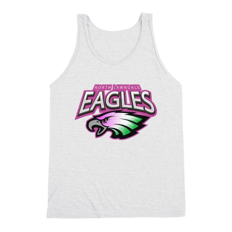 North Lawndale Eagles Breast Cancer Awareness Men's Triblend Tank by J. Brantley Design Shop
