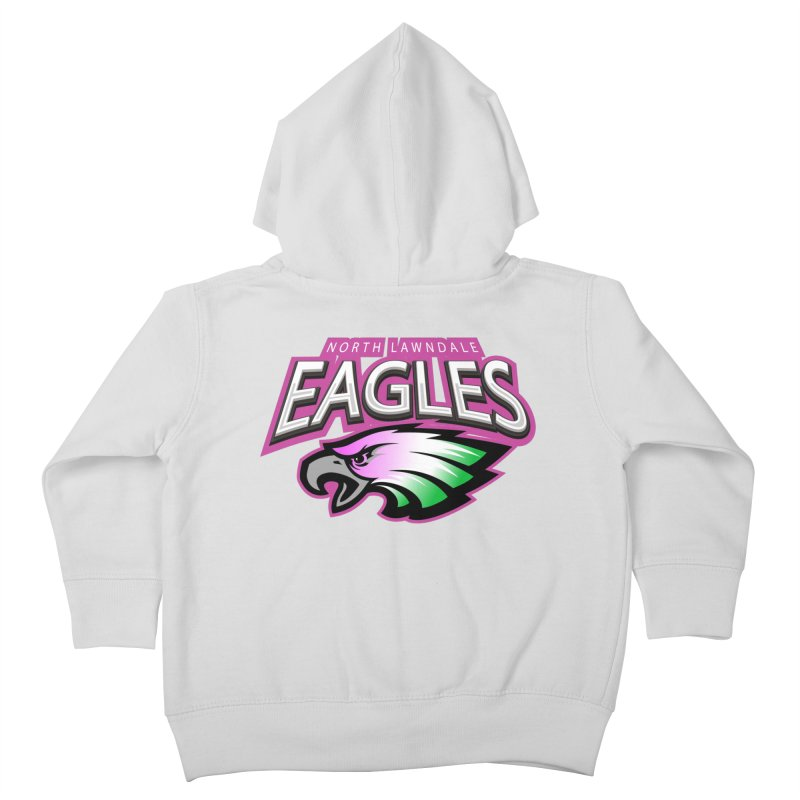 North Lawndale Eagles Breast Cancer Awareness Kids Toddler Zip-Up Hoody by J. Brantley Design Shop