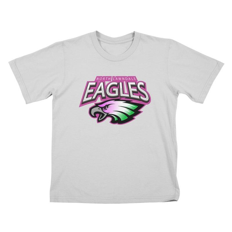 North Lawndale Eagles Breast Cancer Awareness Kids T-Shirt by J. Brantley Design Shop