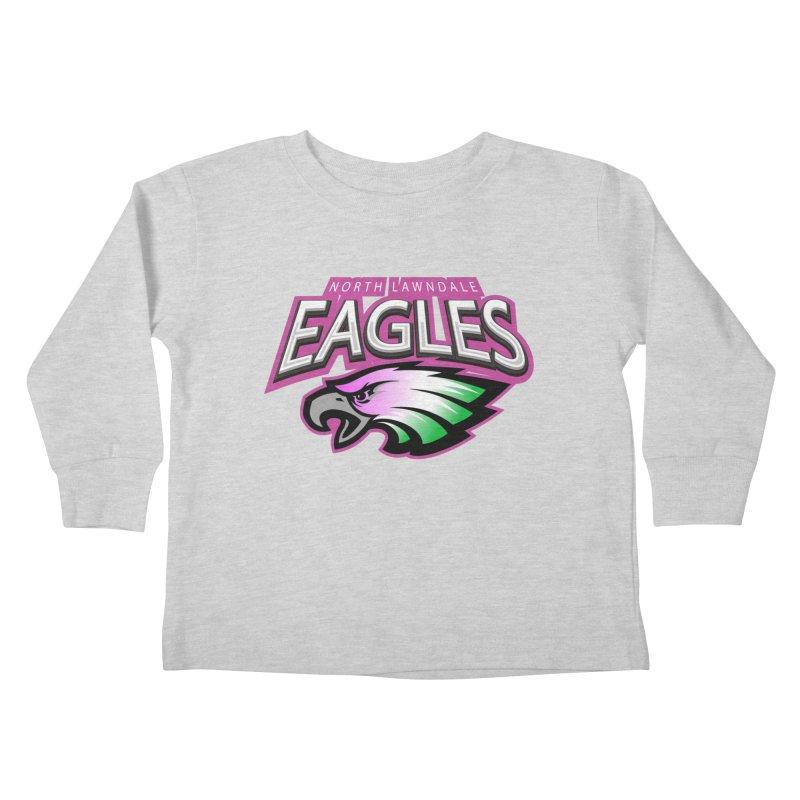 North Lawndale Eagles Breast Cancer Awareness Kids Toddler Longsleeve T-Shirt by J. Brantley Design Shop