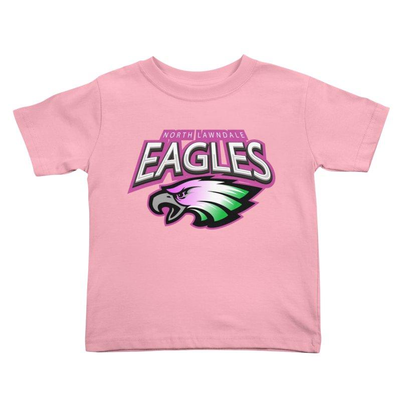 North Lawndale Eagles Breast Cancer Awareness Kids Toddler T-Shirt by J. Brantley Design Shop