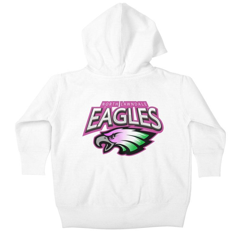 North Lawndale Eagles Breast Cancer Awareness Kids Baby Zip-Up Hoody by J. Brantley Design Shop