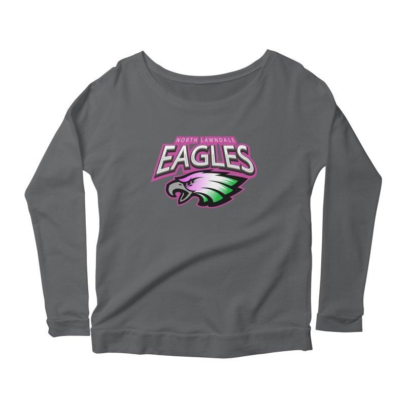 North Lawndale Eagles Breast Cancer Awareness Women's Scoop Neck Longsleeve T-Shirt by J. Brantley Design Shop