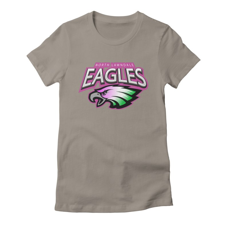 North Lawndale Eagles Breast Cancer Awareness Women's Fitted T-Shirt by J. Brantley Design Shop