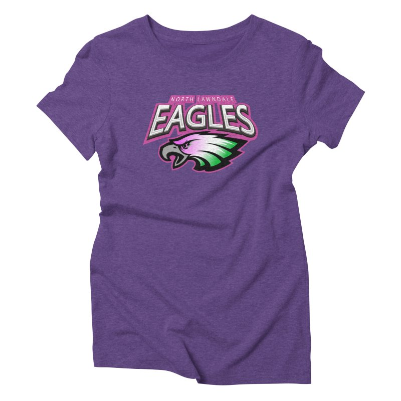 North Lawndale Eagles Breast Cancer Awareness Women's Triblend T-Shirt by J. Brantley Design Shop