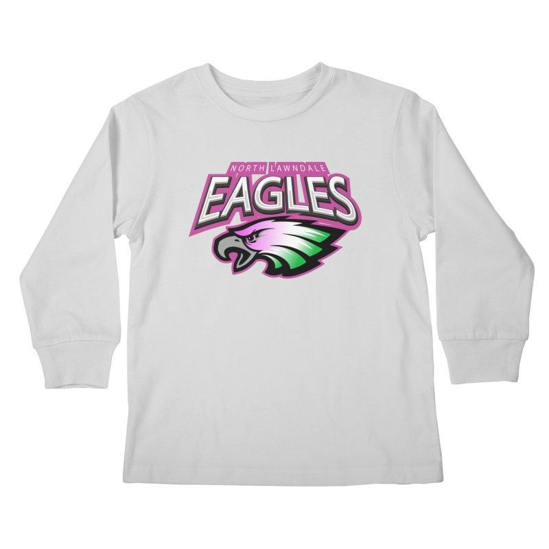North Lawndale Eagles Breast Cancer Awareness Kids Longsleeve T-Shirt by J. Brantley Design Shop