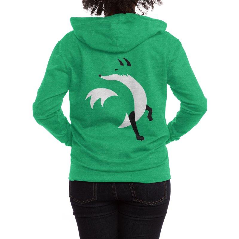 Fox Women's Zip-Up Hoody by JCLovely's Artist Shop