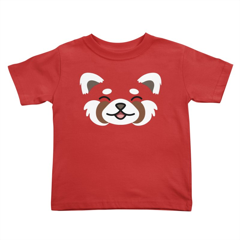 Red Panda Kids Toddler T-Shirt by JCLovely's Artist Shop
