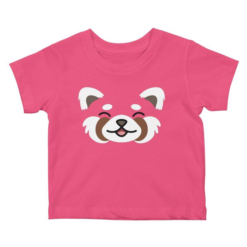 Red Panda Kids Baby T-Shirt by JCLovely's Artist Shop