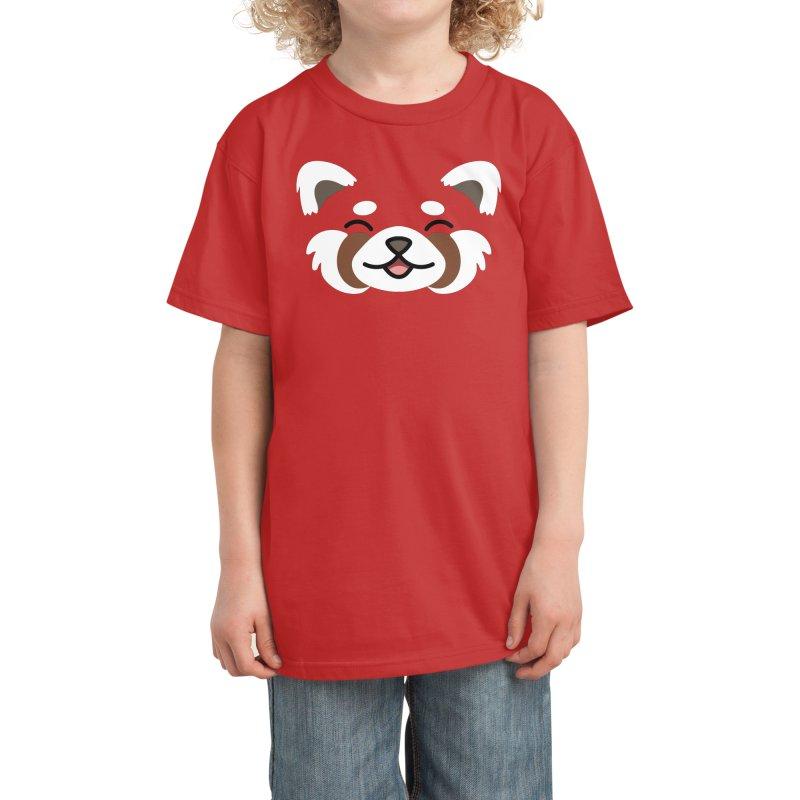 Red Panda Kids T-Shirt by JCLovely's Artist Shop