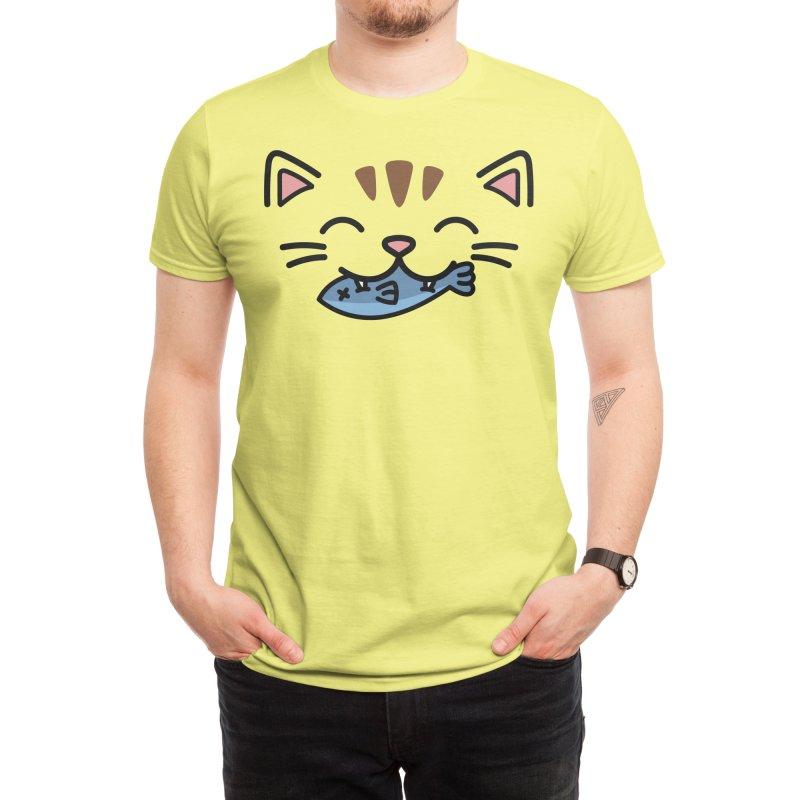 Hungry Kitty Men's T-Shirt by JCLovely's Artist Shop