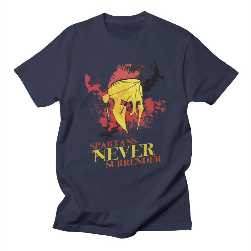 Spartans NEVER surrender Men's Regular T-Shirt by JMBlaster's Artist Shop