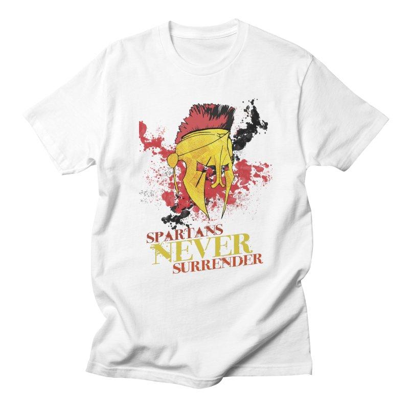 Spartans NEVER surrender Men's T-Shirt by JMBlaster's Artist Shop