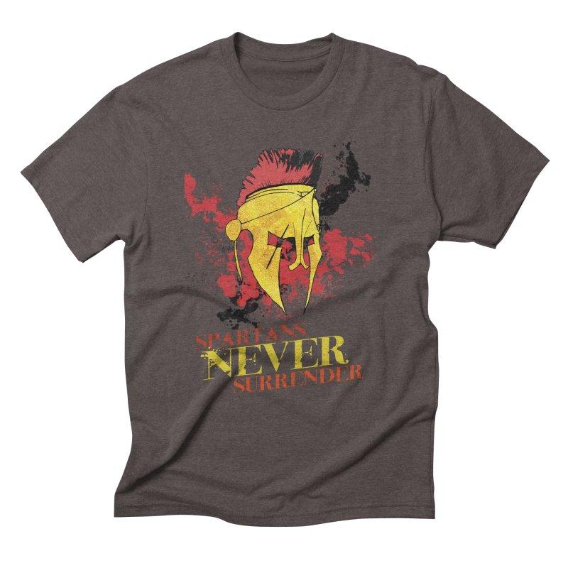 Spartans NEVER surrender Men's Triblend T-Shirt by JMBlaster's Artist Shop