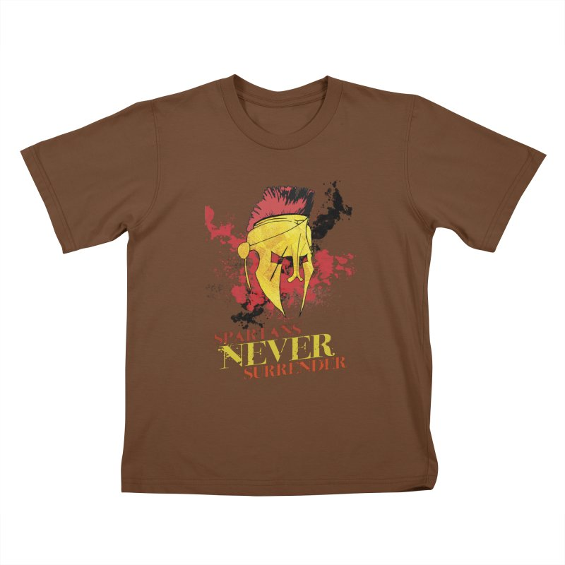 Spartans NEVER surrender Kids T-Shirt by JMBlaster's Artist Shop