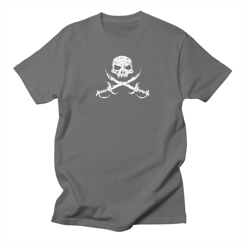Pirate Skull - white Men's T-Shirt by JMGrafik's Artist Shop