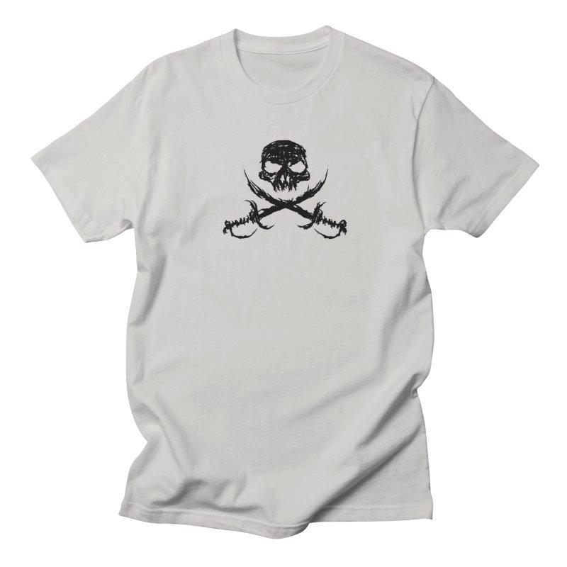 Pirate Skull - black Men's T-Shirt by JMGrafik's Artist Shop