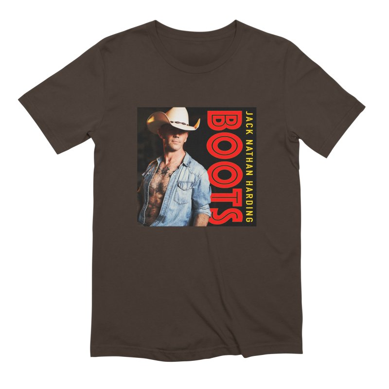 BOOTS Cover Art in Men's Extra Soft T-Shirt Chocolate by JNH-MERCH!
