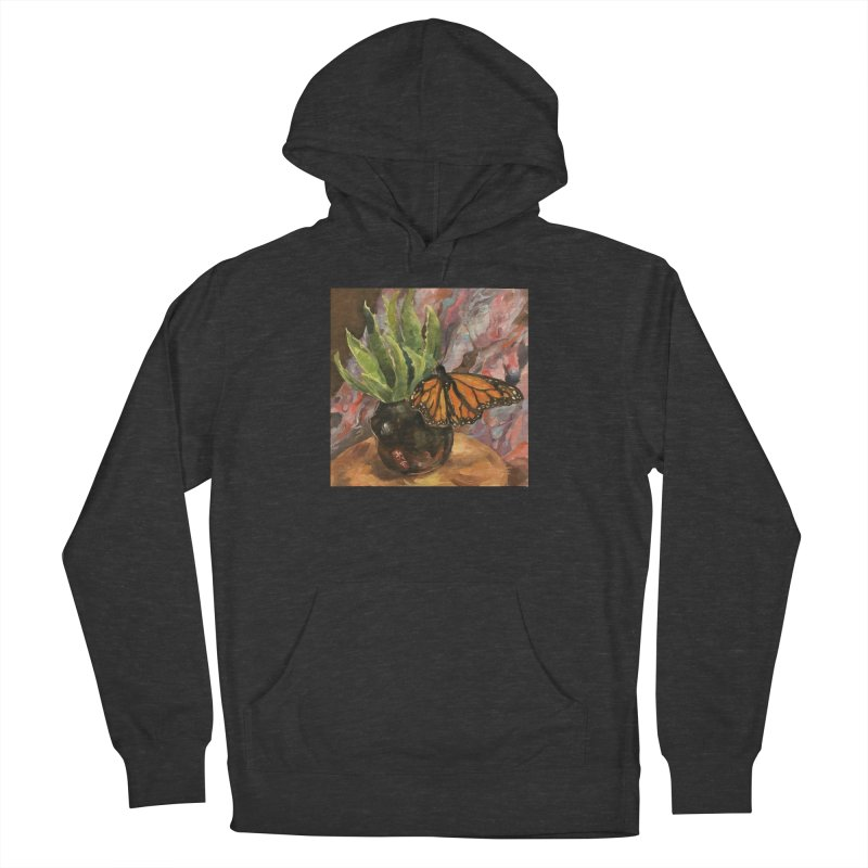 Still Life With Butterfly Women's French Terry Pullover Hoody by JPayneArt's Artist Shop