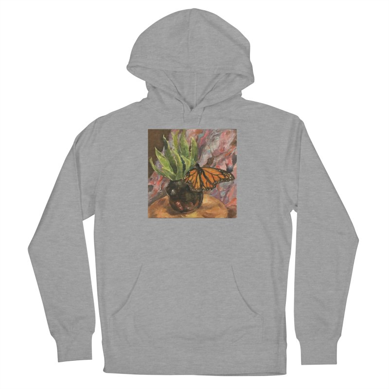 Still Life With Butterfly Men's French Terry Pullover Hoody by JPayneArt's Artist Shop