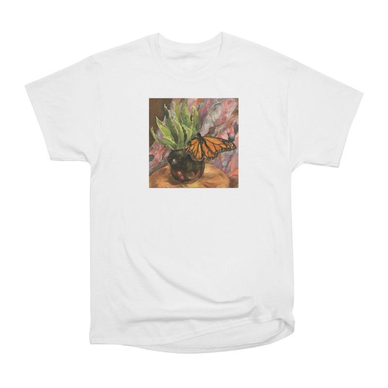 Still Life With Butterfly Women's Heavyweight Unisex T-Shirt by JPayneArt's Artist Shop