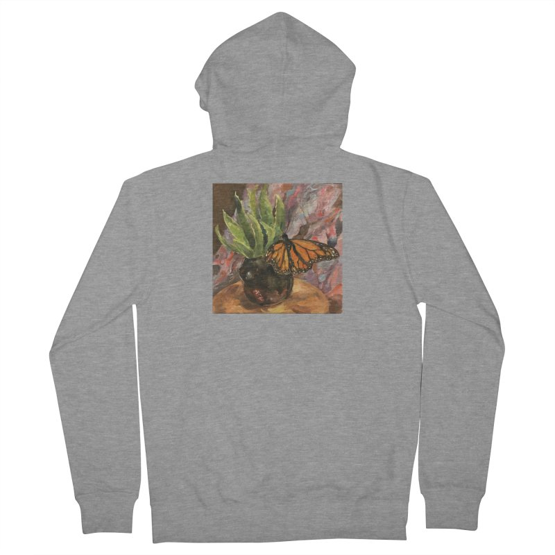 Still Life With Butterfly Men's French Terry Zip-Up Hoody by JPayneArt's Artist Shop