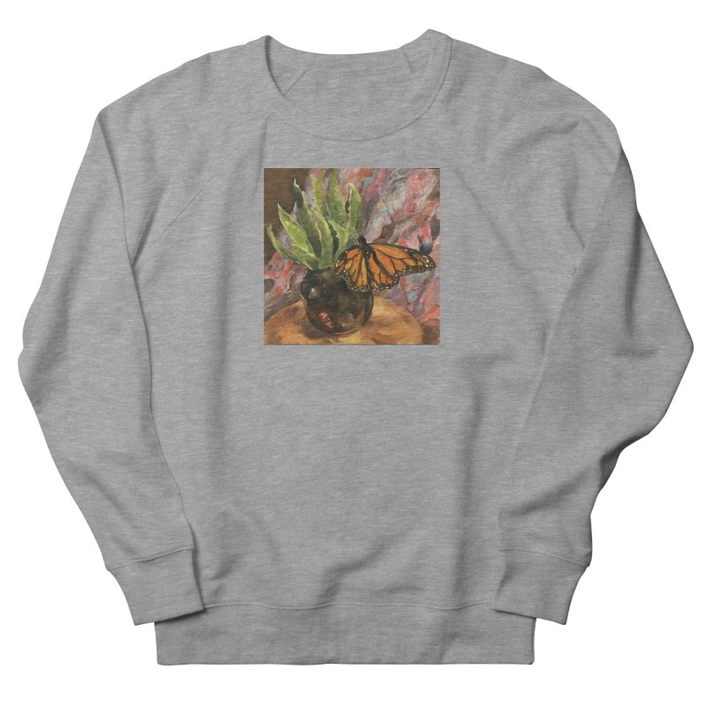 Still Life With Butterfly Women's French Terry Sweatshirt by JPayneArt's Artist Shop