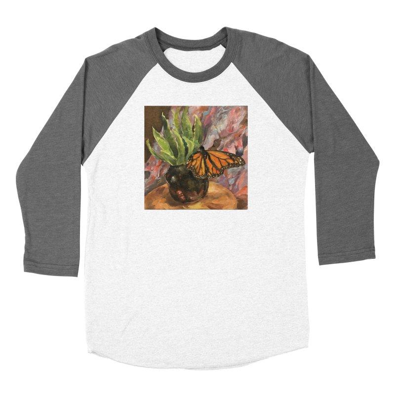 Still Life With Butterfly Women's Baseball Triblend Longsleeve T-Shirt by JPayneArt's Artist Shop