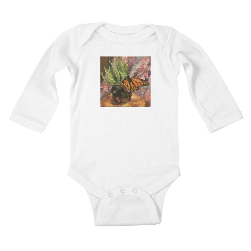 Still Life With Butterfly Kids Baby Longsleeve Bodysuit by JPayneArt's Artist Shop
