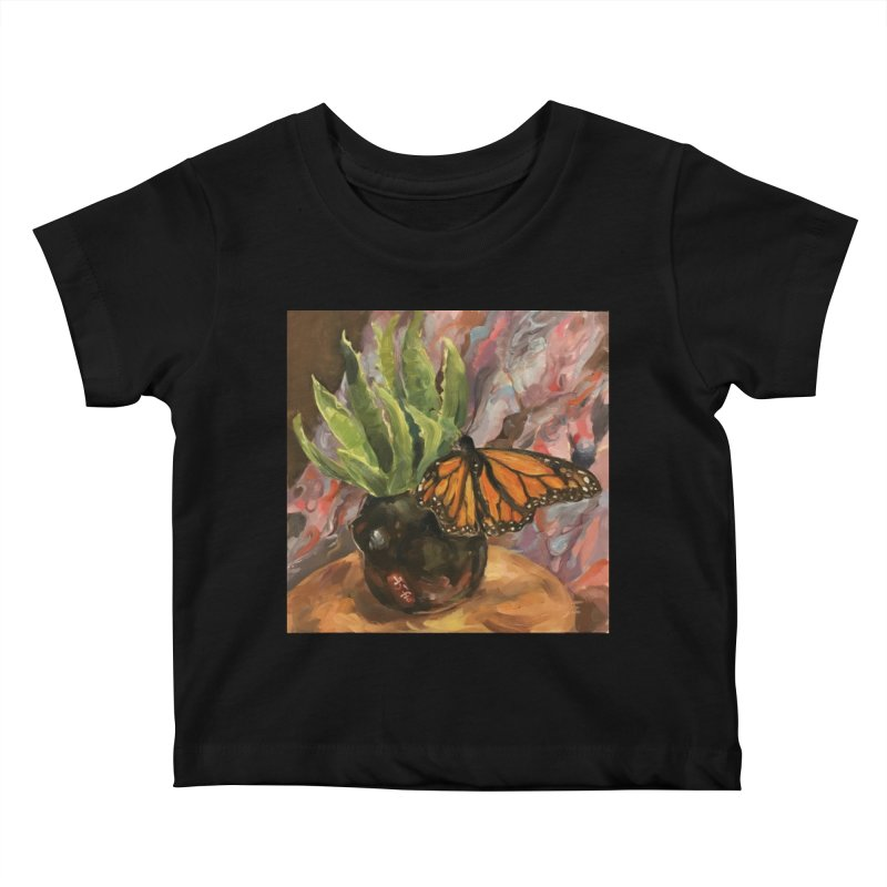 Still Life With Butterfly Kids Baby T-Shirt by JPayneArt's Artist Shop