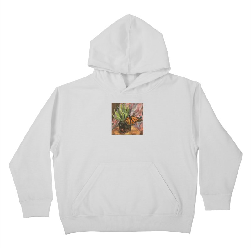 Still Life With Butterfly Kids Pullover Hoody by JPayneArt's Artist Shop