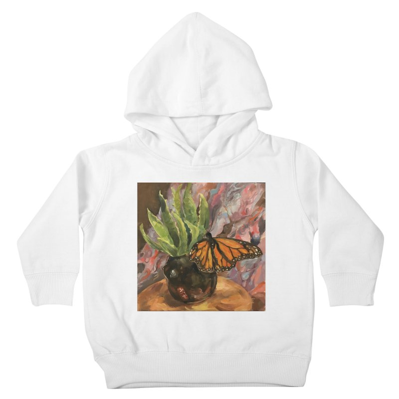 Still Life With Butterfly Kids Toddler Pullover Hoody by JPayneArt's Artist Shop