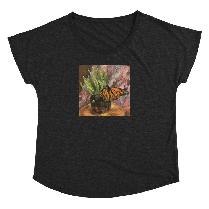 Still Life With Butterfly Women's Dolman Scoop Neck by JPayneArt's Artist Shop