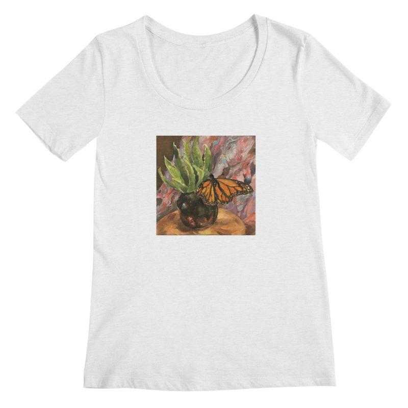 Still Life With Butterfly Women's Regular Scoop Neck by JPayneArt's Artist Shop