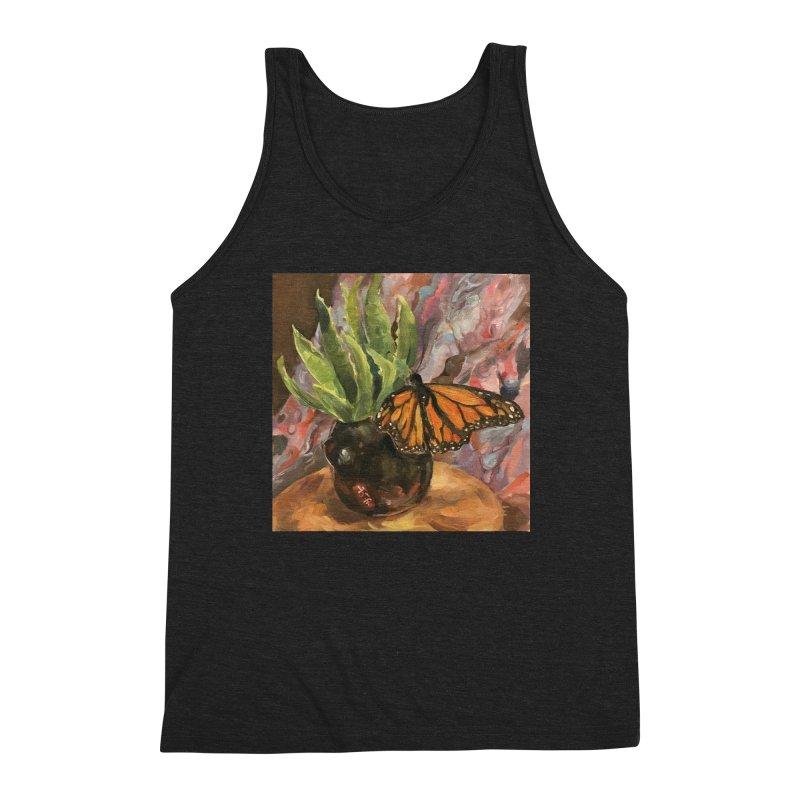 Still Life With Butterfly Men's Triblend Tank by JPayneArt's Artist Shop