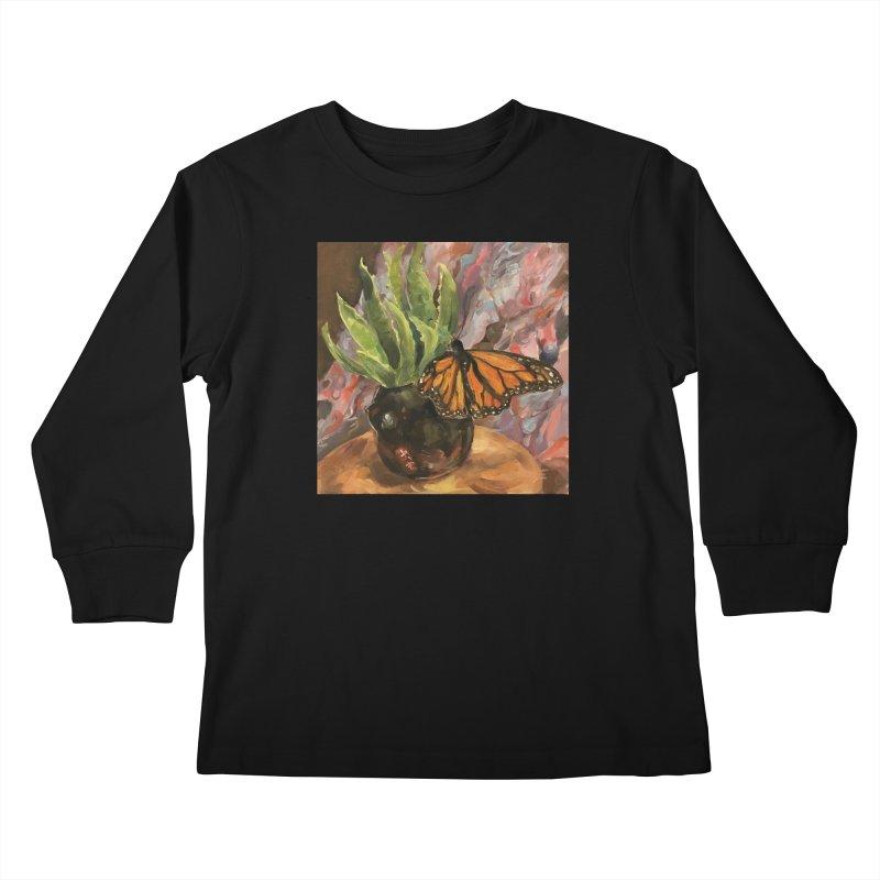 Still Life With Butterfly Kids Longsleeve T-Shirt by JPayneArt's Artist Shop
