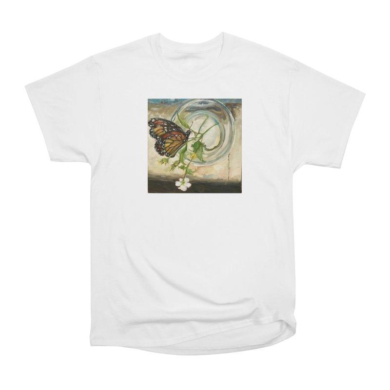 Butterfly with Clovers Women's Heavyweight Unisex T-Shirt by JPayneArt's Artist Shop