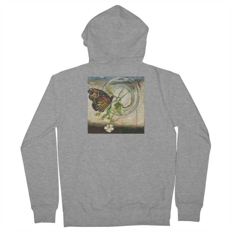 Butterfly with Clovers Women's French Terry Zip-Up Hoody by JPayneArt's Artist Shop