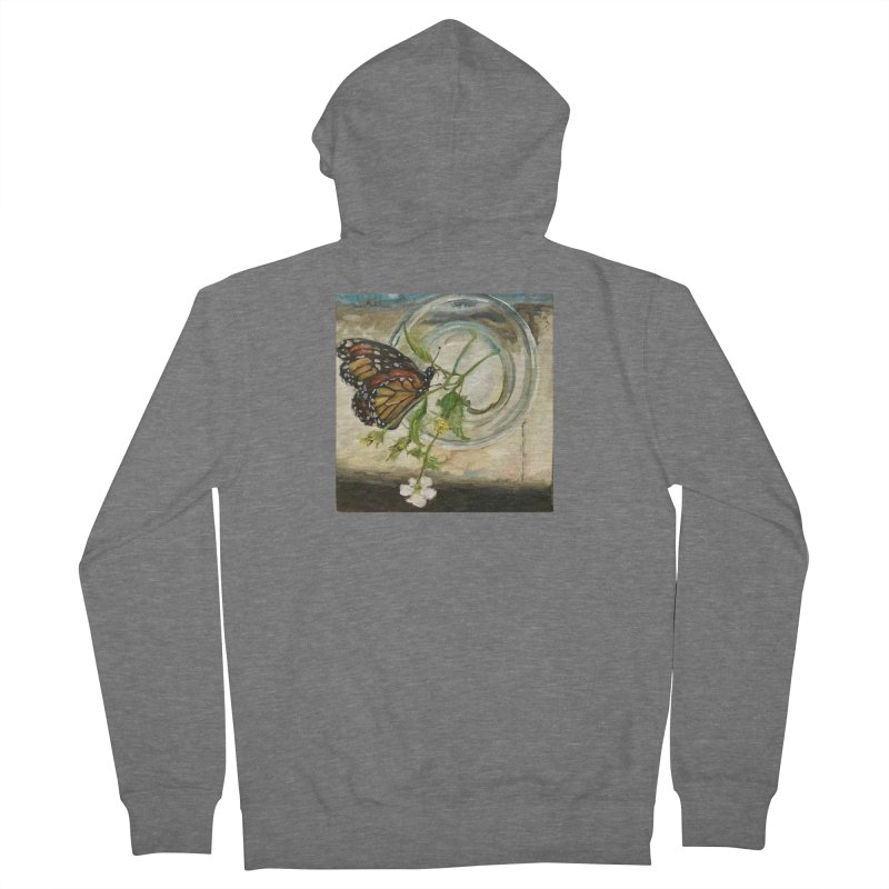 Butterfly with Clovers Men's French Terry Zip-Up Hoody by JPayneArt's Artist Shop