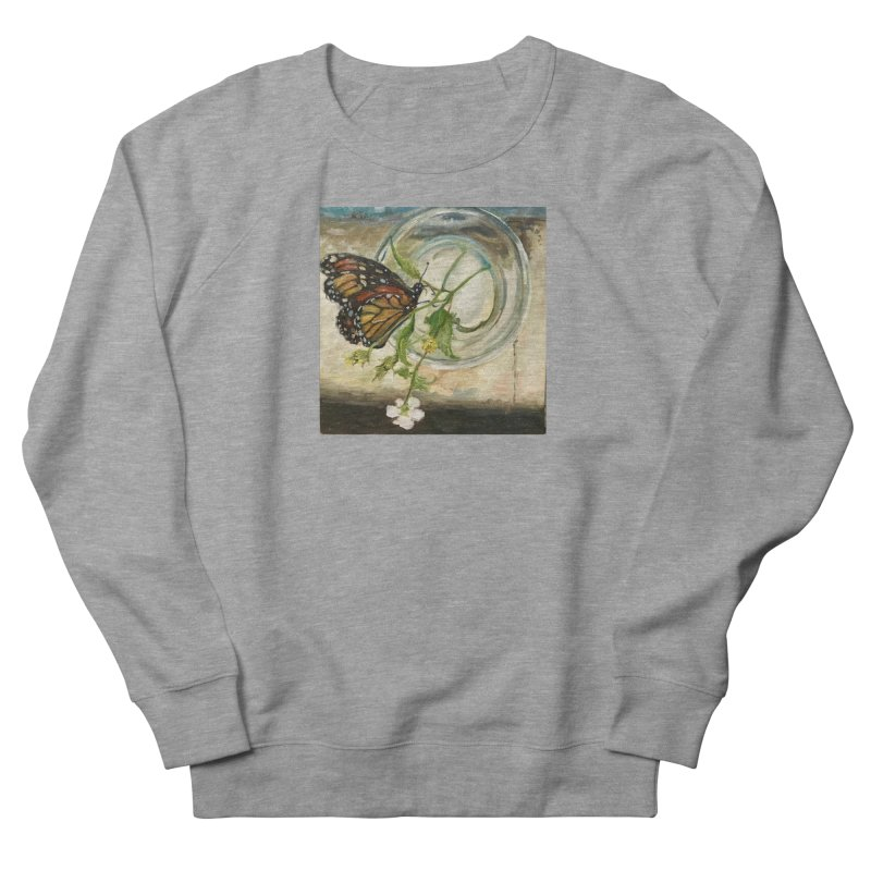 Butterfly with Clovers Men's French Terry Sweatshirt by JPayneArt's Artist Shop