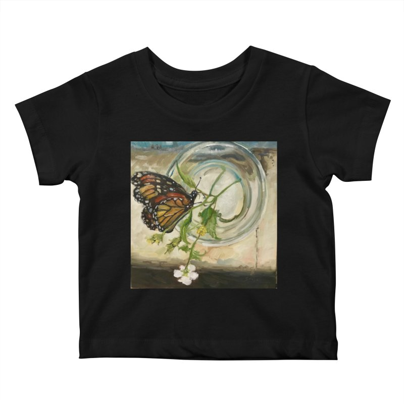Butterfly with Clovers Kids Baby T-Shirt by JPayneArt's Artist Shop