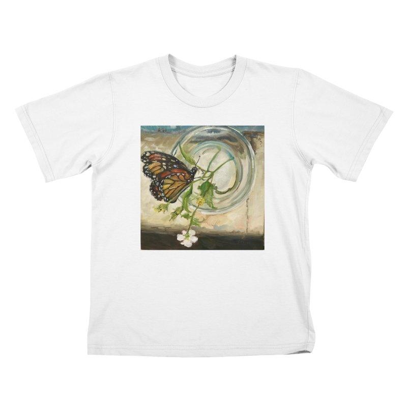 Butterfly with Clovers Kids T-Shirt by JPayneArt's Artist Shop