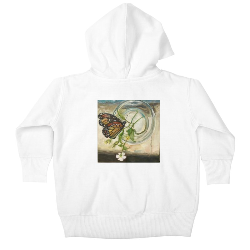 Butterfly with Clovers Kids Baby Zip-Up Hoody by JPayneArt's Artist Shop