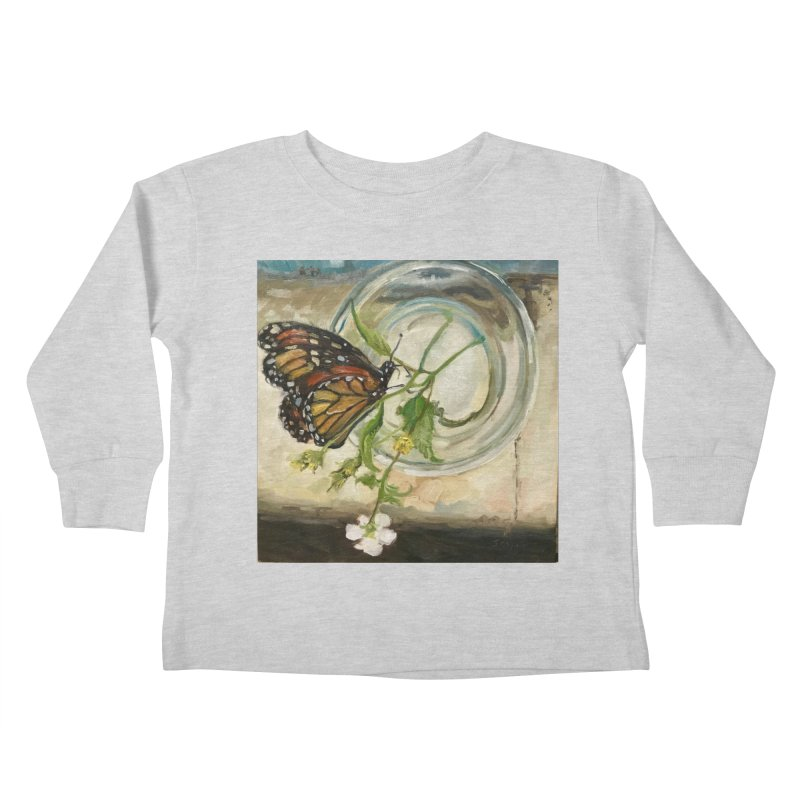 Butterfly with Clovers Kids Toddler Longsleeve T-Shirt by JPayneArt's Artist Shop