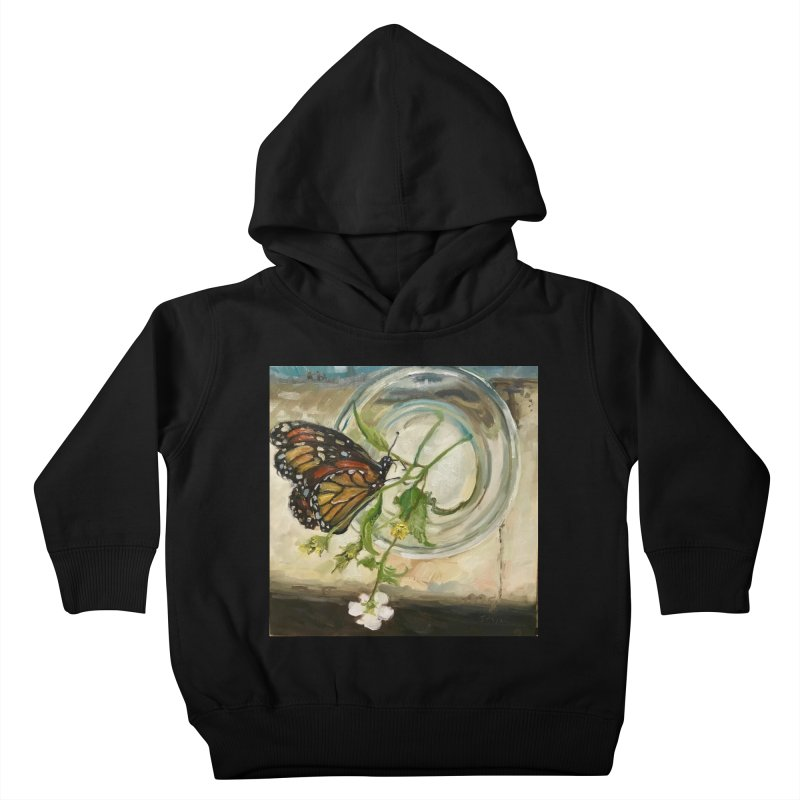 Butterfly with Clovers Kids Toddler Pullover Hoody by JPayneArt's Artist Shop