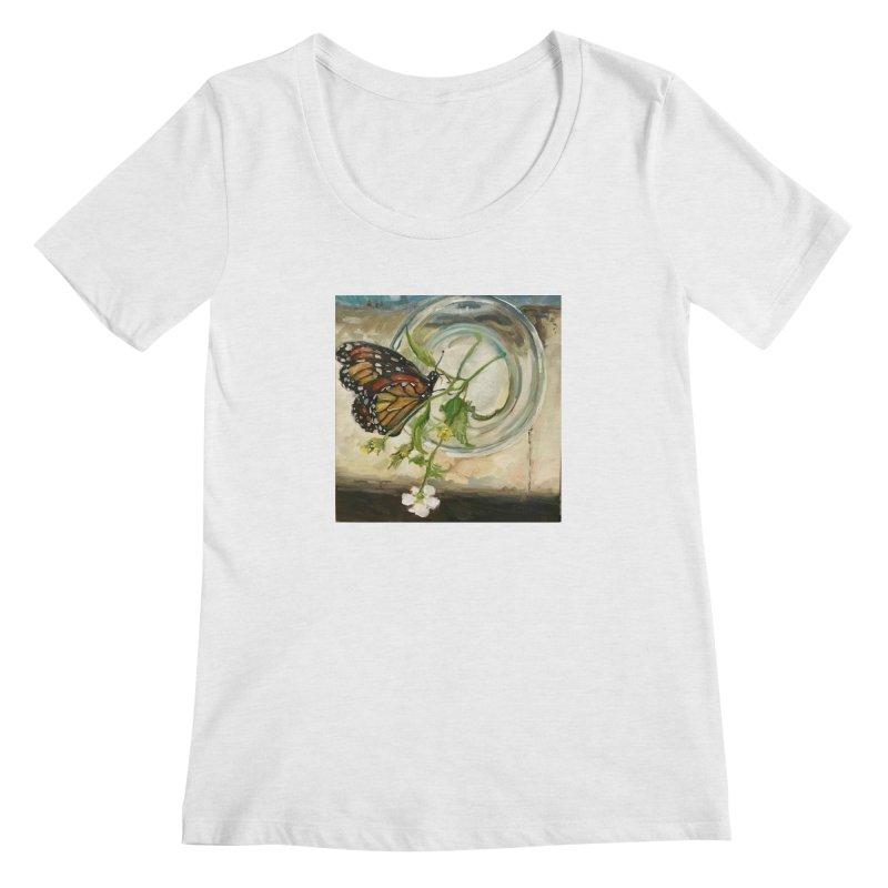 Butterfly with Clovers Women's Regular Scoop Neck by JPayneArt's Artist Shop