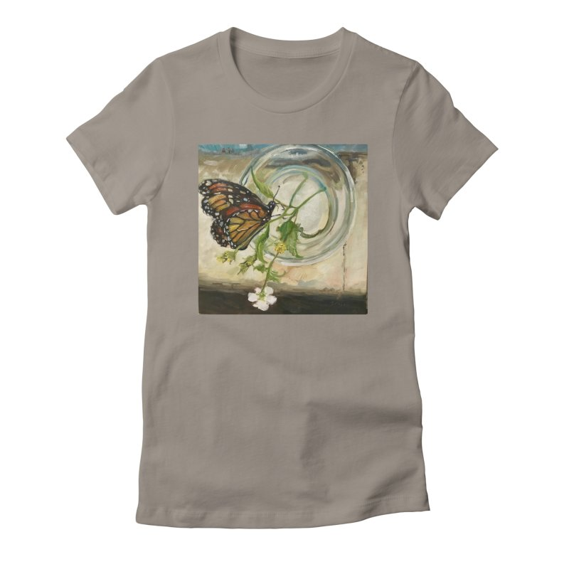 Butterfly with Clovers Women's Fitted T-Shirt by JPayneArt's Artist Shop